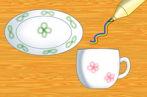 皿とカップ