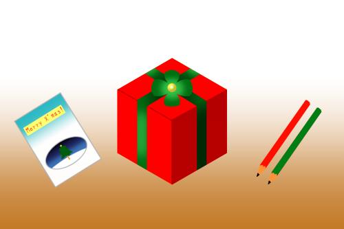 クリスマスカラープレゼント箱