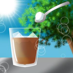 麦茶に砂糖